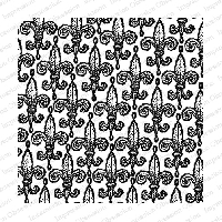 Impression Obsession - Cover A Card - Bold Fleur-de-lis Cling Mounted Rubber Stamp