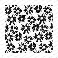 Impression Obsession - Cling Mounted Rubber Stamp - Cover A Card - Flower Bursts
