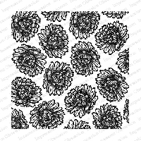 Impression Obsession - Cling Mounted Rubber Stamp - Cover A Card - Floral Blooms