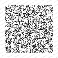 Impression Obsession - Cling Mounted Rubber Stamp - Cover A Card - Leaf Flourishes