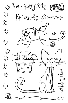 Impression Obsession Clear Stamp - Here Kitty Kitty