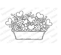 Impression Obsession - Cling Mounted Rubber Stamp - By Tara Caldwell - Heart Basket