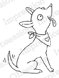 Impression Obsession - Cling Mounted Rubber Stamp - By Carmen Medlin - Silly Dog