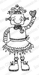 Impression Obsession - Cling Mounted Rubber Stamp - By Lindsay Ostrom - Girlie Bot