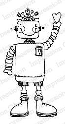 Impression Obsession - Cling Mounted Rubber Stamp - By Lindsay Ostrom - Willy Robot