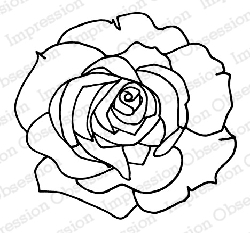 Impression Obsession - Cling Mounted Rubber Stamp - By Dina Kowal - Rose Trace