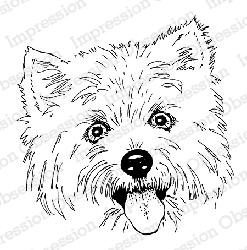 Impression Obsession - Cling Mounted Rubber Stamp - By Gail Green - Terrier