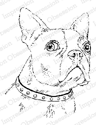 Impression Obsession - Cling Mounted Rubber Stamp - By Gail Green - Boston Terrier