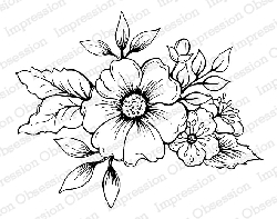 Impression Obsession - Cling Mounted Rubber Stamp - By Tara Caldwell - Spring Flowers