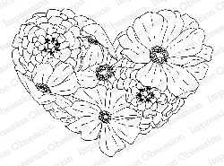 Impression Obsession - Cling Mounted Rubber Stamp - By Dina Kowal - Cosmo Heart