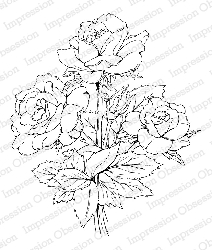 Impression Obsession - Cling Mounted Rubber Stamp - By Tara Caldwell - Rose Bouquet