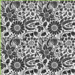 Impression Obsession - Cling Mounted Rubber Stamp - Cover A Card - Wall Flowers