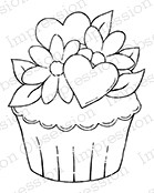 Impression Obsession - Cling Mounted Rubber Stamp - By Tara Caldwell - Spring Cupcake
