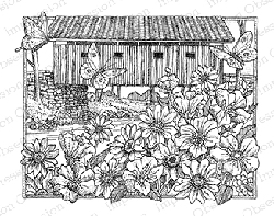 Impression Obsession - Cling Mounted Rubber Stamp - By Gary Robertson - Spring Time Bridge