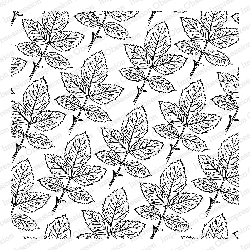 Impression Obsession - Cling Mounted Rubber Stamp - Cover A Card - Sketched Rose Leaves