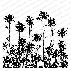 Impression Obsession - Cling Mounted Rubber Stamp - Cover A Card - Tropical Plumes