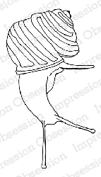 Impression Obsession - Cling Mounted Rubber Stamp - By Dina Kowal - Down Snail