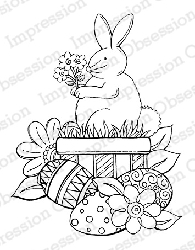 Impression Obsession - Cling Mounted Rubber Stamp - By Tara Caldwell - Bunny Wishes