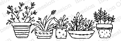 Impression Obsession - Cling Mounted Rubber Stamp - By Lindsay Ostrom - Pots of Herbs