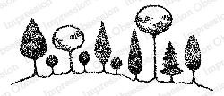 Impression Obsession - Cling Mounted Rubber Stamp - By Carmen Medlin - Treeline