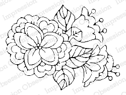 Impression Obsession - Cling Mounted Rubber Stamp - By Carmen Medlin - Whimsy Flowers