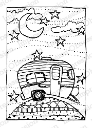 Impression Obsession - Cling Mounted Rubber Stamp - By Lindsay Ostrom - Sweet Trailer