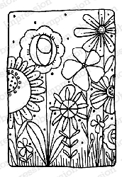 Impression Obsession - Cling Mounted Rubber Stamp - By Lindsay Ostrom - Meadow Whisper