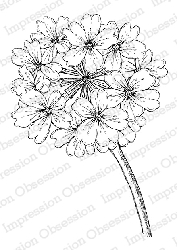 Impression Obsession - Cling Mounted Rubber Stamp - By Tara Caldwell - Verbena Blossom