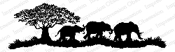 Impression Obsession - Cling Mounted Rubber Stamp - By Gail Green - Elephant Scene
