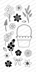 Impression Obsession - Clear Stamps - By Tara Caldwell - Garden Mini Baskets