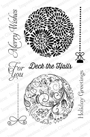 Impression Obsession Clear Stamp - Round Ornaments 2