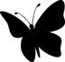 Impression Obsession Cling Mounted Rubber Stamp - Silhouette #20 Butterfly