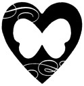 Impression Obsession - Cling Stamp - Butterfly Heart - By Alesa Baker