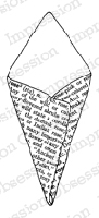 Impression Obsession - Cling Stamp - by Alesa Baker - Rose Text Paper Cone