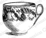 Impression Obsession - Cling Stamp - by Alesa Baker - Victorian Rose Teacup