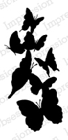 Impression Obsession - Cling Mounted Rubber Stamp - By Alesa Baker - Butterfly Garden
