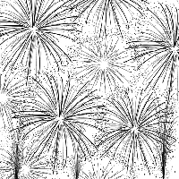 Impression Obsession - Cover A Card Fireworks Cling Mounted Rubber Stamp