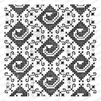 Impression Obsession - Cover A Card - Cross Stitch Cling Mounted Rubber Stamp