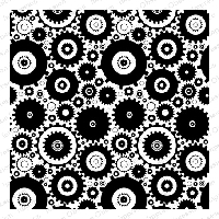 Impression Obsession - Cover A Card - Cogs Cling Mounted Rubber Stamp