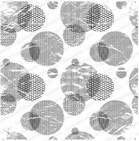 Impression Obsession - Cling Mounted Rubber Stamp - Cover A Card - Mesh Circles