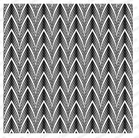 Impression Obsession - Cover A Card - Dimensional Chevron Cling Mounted Rubber Stamp