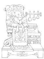 Impression Obsession Cling Mounted Rubber Stamp by Tara Caldwell - Baking