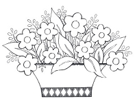 Impression Obsession Cling Mounted Rubber Stamp by Tara Caldwell - Flower Basket