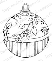 Impression Obsession - Cling Mounted Rubber Stamp - By Tara Caldwell - Leaf Ornament