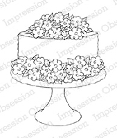Impression Obsession - Cling Mounted Rubber Stamp - By Tara Caldwell - Rose Cake