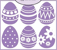Impression Obsession - Cling Stamp - Egg Block (matches Egg Block die)