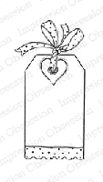 Impression Obsession - Cling Stamp - by Alesa Baker - Dot Heart Tag