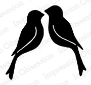 Impression Obsession - Cling Stamp - by Alesa Baker - Love Birds