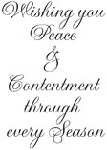 Impression Obsession Cling Mounted Rubber Stamp - Peace and Contentment