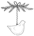 Impression Obsession-Cling Stamp-Bud Ornament